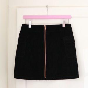 MinkPink Suede Mini Skirt